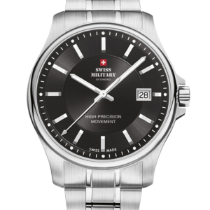 SWISS MILITARY BY CHRONO Silver Stainless Steel Bracelet