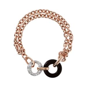 Preziosa Multistrand Bracelet W Donat Stone & Pave Link